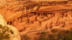 Mesa Verde 16 Zoom In Cliff Palace Native American Ruins Colorado - stock footage