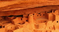 Mesa Verde 17 Zoom In Cliff Palace Native American Ruins Colorado Footage