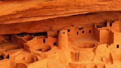 Mesa Verde 17 Zoom In Cliff Palace Native American Ruins Colorado - stock footage