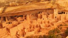 Mesa Verde 18 Zoom In Cliff Palace Native American Ruins Colorado - stock footage