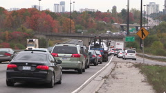 Epic traffic gridlock in Toronto Stock Footage