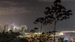 City Traffic TIme Lapse Panama City Pan Stock Footage