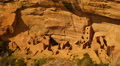 Mesa Verde 24 Zoom Out Square Tower House Native American Ruins Colorado Footage