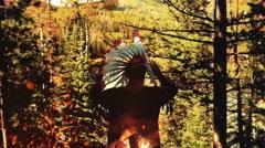 Native american ritual Stock Footage
