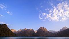 Mountain lake at sunset. TimeLapse. Pamir, Tajikistan Stock Footage