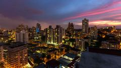 City Traffic TIme Lapse Panama City Pan - stock footage