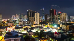 City Traffic TIme Lapse Panama City - stock footage
