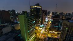 City Traffic TIme Lapse Lima Pan - stock footage