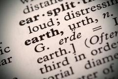 Earth definition Stock Photos