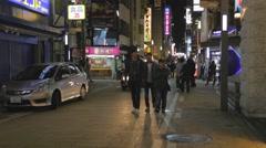 Dotonbori - Chuo Ward nightlife on street Stock Footage