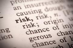 risk definition - stock photo