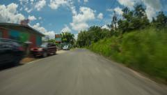 Driving Time Lapse Puerto Rico Stock Footage