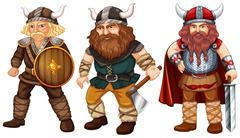 Vikings - stock illustration