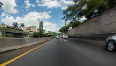 Driving Time Lapse Puerto Rico - stock footage