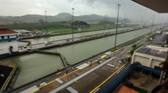 Panama Canal Time Lapse - stock footage