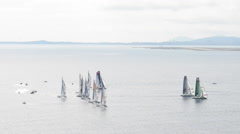 SAILING BOATS, FRENCH RIVIERA Stock Footage