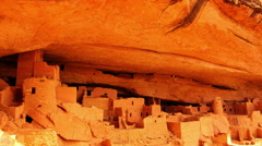 Mesa Verde Timelapse 12 Zoom In Cliff Palace Native American Ruins Colorado Stock Footage