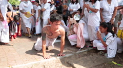 RELIGION POSSESSED TRANCE RITUAL SELF SACRIFICE FAITH SUFFERING Stock Footage