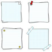notepads - stock illustration