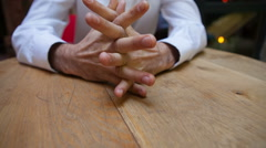 Hands nervous man - stock footage