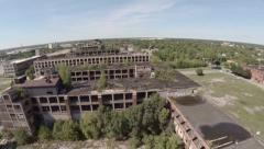 Detroit Aerial Packard Plant - stock footage