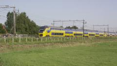 Modern VIRM train of Dutch Railways Stock Footage