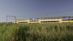 VIRM Intercity train of Dutch Railways Stock Footage