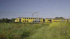 Double carriage train from Dutch Railways Stock Footage