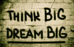 think big dream big concept - stock illustration