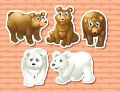 Bears Stock Illustration