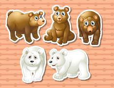 Bears - stock illustration