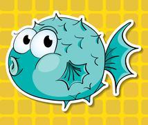 Puffer fish - stock illustration