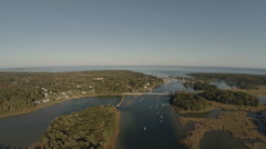 Maine Aerial Harbor Stock Footage