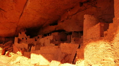 Mesa Verde Timelapse 19 Zoom In Cliff Palace Native American Ruins Colorado Stock Footage