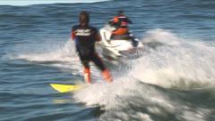 Mavericks Surfing JeT SKI TEAM - stock footage