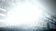 Business writing success concept 17 Stock Footage