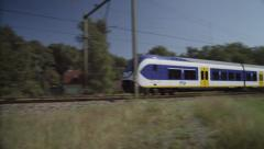 Dutch slow train passing by Stock Footage