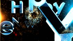 New year 2015 animation with ambient fireworks sound 2 Stock Footage