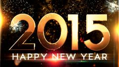New year 2015 animation with ambient fireworks sound :)) Stock Footage