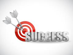 success bulls eye target illustration - stock illustration