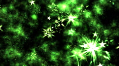 Abstract Star Shapes, Space - Loop Green Stock Footage
