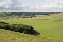 Stock Photo of south downs countryside near eastbourne. england