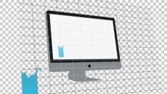 iMac Charts. Stocks. Going up down. Alpha-channel - stock footage