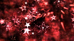 Abstract Star Shapes, Space - Loop Red - stock footage