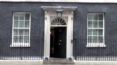 Downing St  London - stock footage