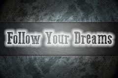 follow your dreams concept - stock illustration
