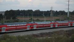 Passenger train in Israel Stock Footage