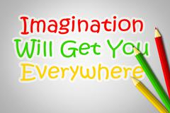 imagination will get you everywhere concept - stock illustration