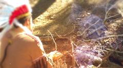 Native american fire starter Arkistovideo