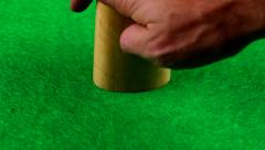 Poker dice Stock Footage